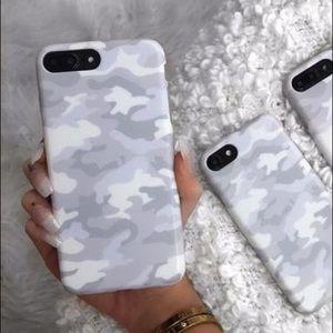 White Clouds Camo iPhone 8/7+ Case